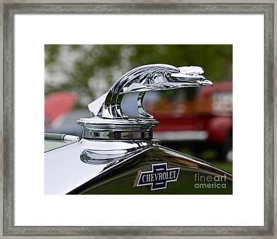 Vintage Chevrolet Hood Ornament Framed Print by JRP Photography