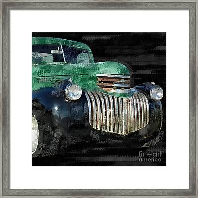 Vintage Chevrolet Pickup 1 Framed Print by Betty LaRue