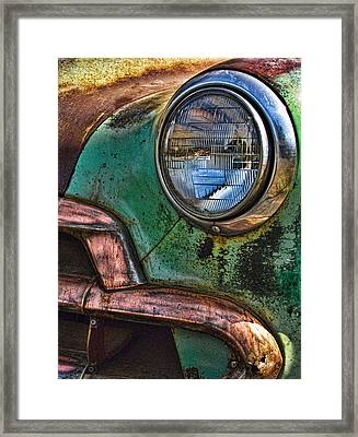 Vintage Chevy 1 Framed Print by Nancy De Flon