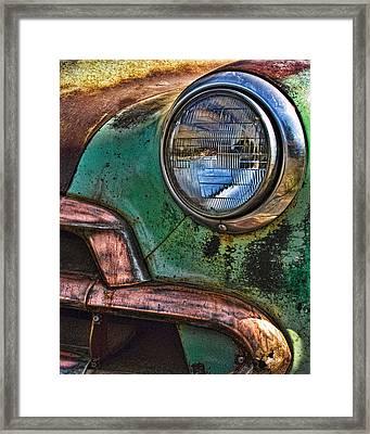 Vintage Chevy 3 Framed Print by Nancy De Flon