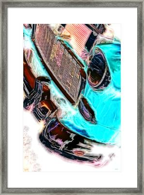 Vintage Chevy Art Alley Cat 2 Agua Framed Print