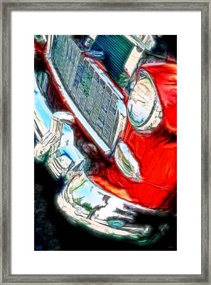 Vintage Chevy Art Alley Cat 3 Red Framed Print