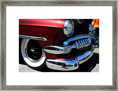 Vintage Chevy Grill  Toothy Chrome Framed Print by Lesa Fine