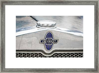 Vintage Chevy Logo Framed Print by Dawn Romine