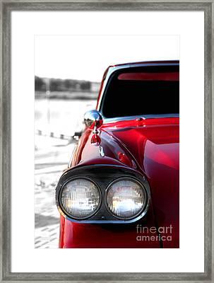 Vintage Chevy Red Framed Print by Jennifer Mecca