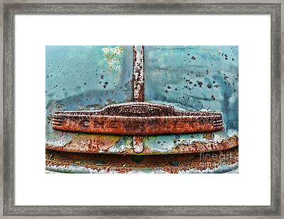 Vintage Chevy Rust  Framed Print by Paul Ward