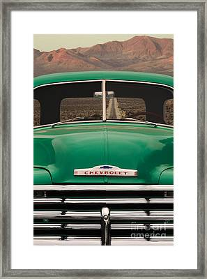 Vintage Chevy Truck Framed Print by Ron Sanford