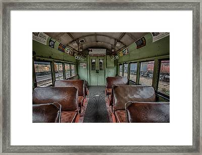 Vintage Chicago Train Framed Print by Mike Burgquist
