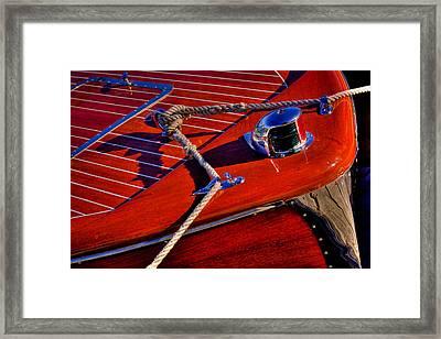 Vintage Chris Craft Boat Framed Print