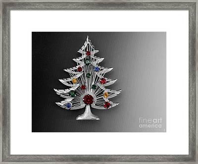 Vintage Christmas Tree Framed Print