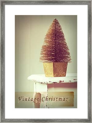 Vintage Christmas Treee Framed Print by Amanda Elwell
