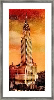 Vintage Chrysler Building Framed Print