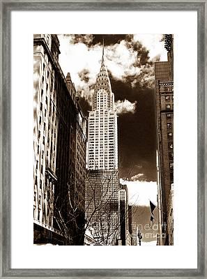 Vintage Chrysler Building Framed Print by John Rizzuto