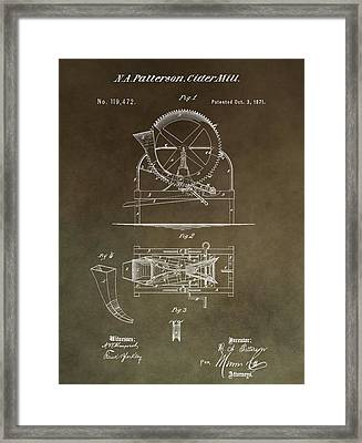 Vintage Cider Mill Patent Framed Print by Dan Sproul