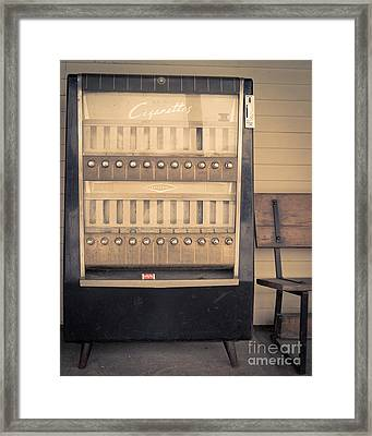 Vintage Cigarette Machine Framed Print