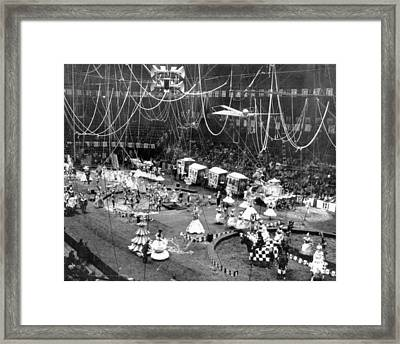 Vintage Circus Inside Tent Framed Print by Retro Images Archive