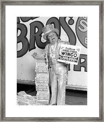 Vintage Circus Performer Advertising Framed Print by Retro Images Archive