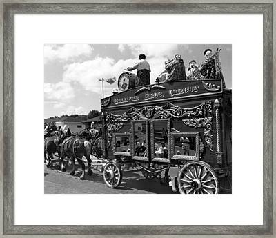 Vintage Circus Wagon Framed Print by Retro Images Archive