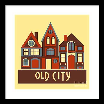 Town Centre Framed Prints