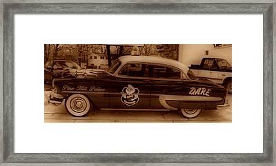 Vintage Classic D.a.r.e. Police Car Framed Print by Thomas  MacPherson Jr