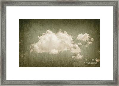Vintage Clouds Background Framed Print by Jorgo Photography - Wall Art Gallery