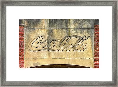 Vintage Coca Cola Bottling Plant Portal - Frederick Md Framed Print