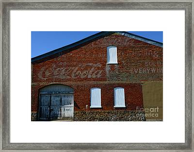Vintage Coca Cola Ghost Sign Framed Print by Paul Ward