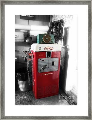 Vintage Coca Cola Framed Print by John Rizzuto