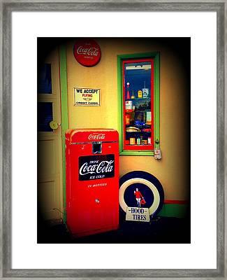 Vintage Coca Cola Framed Print by Randall Weidner