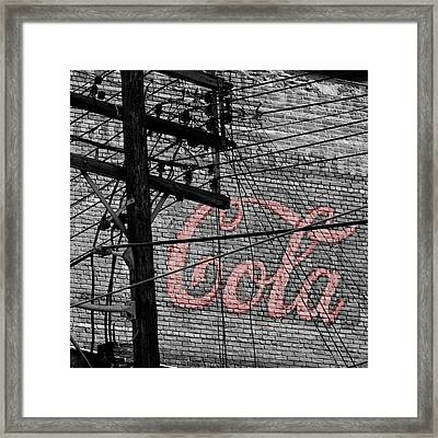 Vintage Coca Cola Sign 4b Framed Print by Andrew Fare
