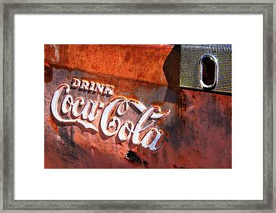 Framed Print featuring the photograph Vintage Coca Cola by Steven Bateson