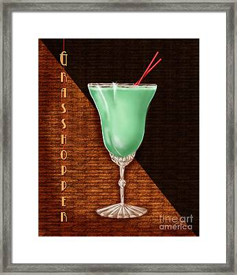 Vintage Cocktails-grasshopper Framed Print by Shari Warren