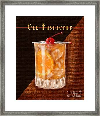 Vintage Cocktails-old Fashioned Framed Print by Shari Warren