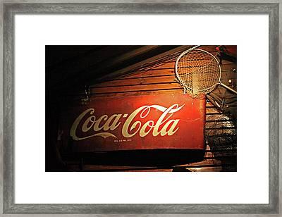 Vintage Coke-cola Sign Framed Print by Linda Phelps