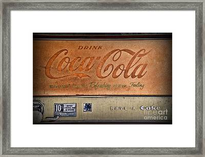 Vintage Coke Vending Machine Framed Print by Paul Ward