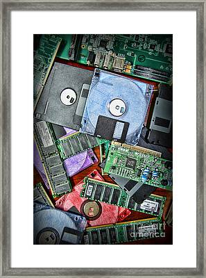 Vintage Computer Parts Framed Print by Paul Ward