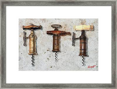 Vintage Corkscrews Painting Framed Print