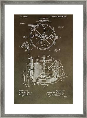 Vintage Corn Shocker Patent Framed Print by Dan Sproul