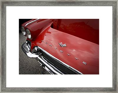 Framed Print featuring the photograph Vintage Corvette by Patrice Zinck