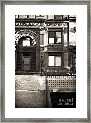 Vintage Cotton Exchange Framed Print