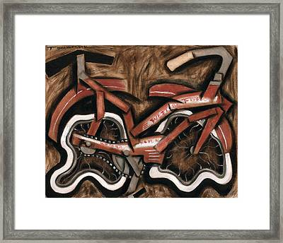 Vintage Cruiser Bicycle Art Print Framed Print by Tommervik
