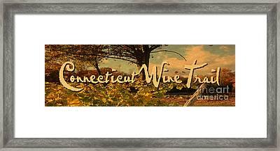 Vintage Ct Wine Trail Sign Framed Print