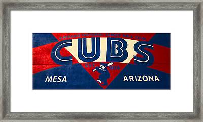 Vintage Cubs Spring Training Sign Framed Print