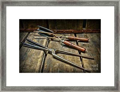 Vintage Curling Iron  Framed Print