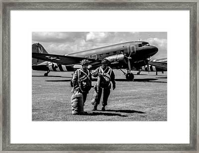 vintage D Day  Framed Print