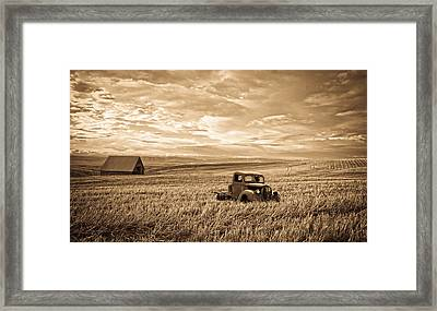 Vintage Days Gone By Framed Print by Steve McKinzie