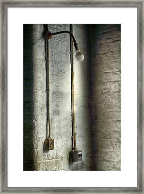 Vintage Decaying Light Fitting Framed Print