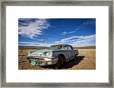 Vintage Desert Car Framed Print by Shanna Gillette