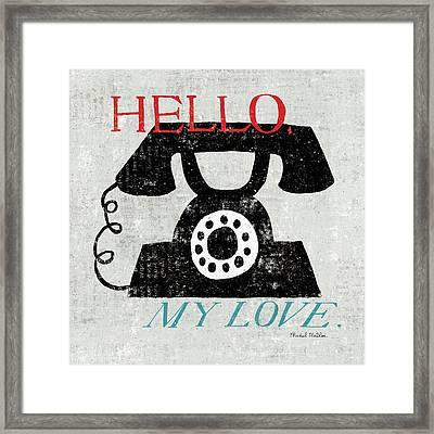 Vintage Desktop - Phone Framed Print