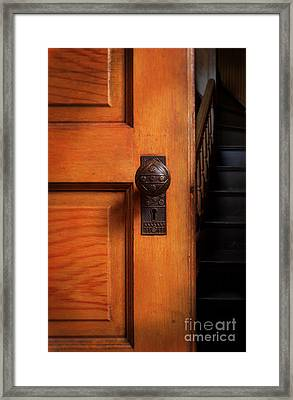 Vintage Door And Stairs Framed Print by Jill Battaglia